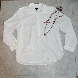 Talbots 10 petite cotton spandex long sleeve